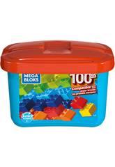 Mega Bloks Cube Bleau 100 Piéces Mattel GJD21