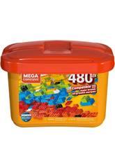 Mega Construx Builders Cubo Naranja 480 Piezas Mattel GJD23