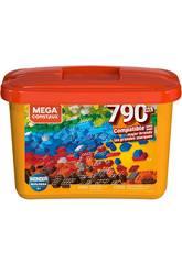 Mega Construx Builders Seau Orange 790 Pièces Mattel GJD24
