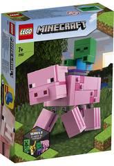 Lego Minecraft Big Fit Maiale con Bebè Zombi 21157