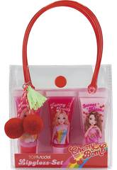 TopModel Set de Rouge à Lèvres Gloss Cherry Bomb