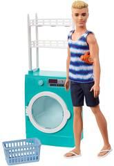Barbie Pupazzo Ken e Mobilio Lavatrice Mattel FYK52