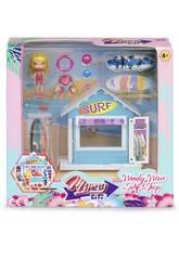 Mimy City Set Loja De Surfe Com Figura Wendy Wave Famosa 700015596