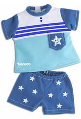 Nenuco Roupinha Casual 35 cm. Conjunto Azul Famosa 700013822