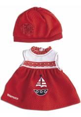 Nenuco Roupinha Casual 35 cm. Vestido Vermelho Famosa 700013822