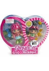 Pin et Pon Best Friends 2 Cheveux Roses et Cheveux Noirs Famosa 700015572