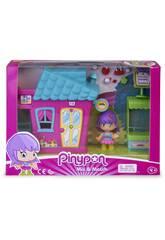 Pinypon Mini Casita Rosa con Figura Famosa 700015606