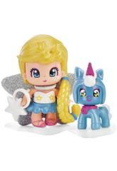 Pinypon Étoile et Animal de Compagnie Bleu Famosa 700015732