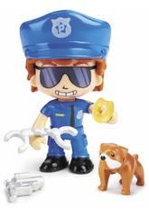 Pinypon Action Figura Policía con Bulldog Famosa 700015151