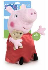 Peluche Peppa Pig 27 cm. avec des Sons Famosa 760018704
