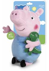Peluche Peppa Pig George 27 cm. avec des Sons Famosa 760018704