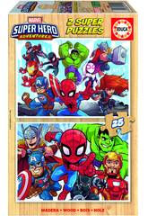 Puzzle 2X25 Marvel Super Heroe Adventures Educa 18599