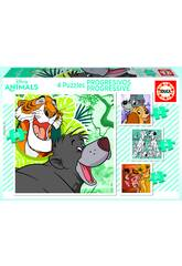 Puzzle Progressifs 12-16-20-25 Disney Animals Educa 18628
