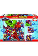 Puzzle Progressivo Marvel Super Heroe Adventures 12-16-20-25 Educa 18647