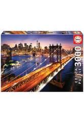 Puzzle 3.000 Manhattan Al tramonto Educa 18508