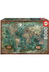 Puzzle 8000 Mapamundi Histórico Educa 18017
