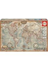 Puzzle 1000 O Mundo, Mapa Político