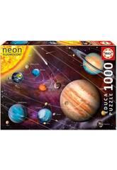 Puzzle 1000 Neon sistema solare Educa 14461