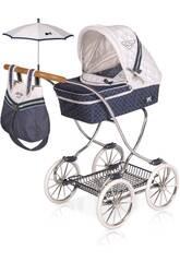 Chariot de Poupée Classic Romantic avec Parasol DeCuevas 80237