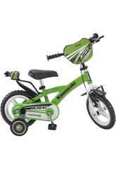 Vélo Kawasaki KRX 12 Pouces Toimsa 1290Il est temps de découvrir le vélo ultime pour les plus petits de la maison grâce à ce nouveau <b> Vélo 12 Pouces Kawasaki KRX de Toimsa </b>! Apportez à la maison ce sensationnel vélo pour enfants avec lequel les enfants peuvent passer des heures sur roues de façon sûre et amusante. C'est l'article parfait pour calmer les peurs et augmenter la confiance pour relever des défis comme celui-ci. Le vélo est fabriqué avec des matériels de la plus haute qualité et durabilité et a des avantages comme des roues pour commencer l'aventure, une protection pour la chaîne, un frein avant, une selle confortable et beaucoup plus de surprises. Article fabriqué en Espagne. Âge recommandé: de 3 à 5 ans. Le kit est composé de: 1 vélo pour enfants de vert et de noir de Kawasaki KRX avec des stabilisateurs, un frein avant, une protection pour la chaîne, des roues silencieuses, un garde-boue, un porte-bouteilles et une mini bouteille en plastique. Taille du vélo: 12 pouces. Dimensions recommandées pour les enfants de 85 à 100 cm de hauteur.