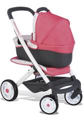 Carro de Muñecas Bebé Confort Rosa 3 en 1 Smoby 253199