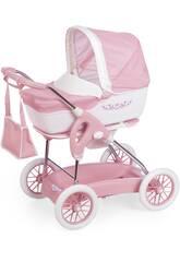 Carro de Bonecas Combi Inglesina Cor-de-rosa 3x1 Dobrável Smoby 250582