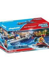 Playmobile Patrouille Küstenwache Polizei und Wasserfahrzeugdieb 70463