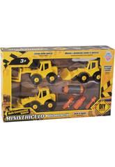 Mini Vehículos de Construcción Desmontables 3 Vehículos con Herramientas