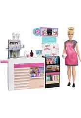 Barbie Cafetaria com Acessórios Mattel GMW03
