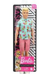 Barbie Ken Fashionista Chemise avec des Fruits Mattel GHW68