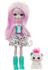 Enchantimals Bambola Sybill Snow Leopard e Flake Mattel GJX42