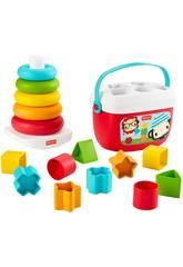 Fisher Price Pack Eco Piramidi e Blocchi Mattel GRF11