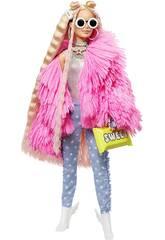 Barbie Fashionista Extra Vestido Rosa Con Mascota y Complementos Mattel GRN28