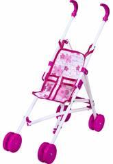 Charriot de Poupée en Rose et Blanc Pliant Rosa Toys 0102