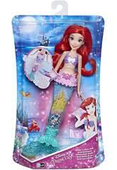 Bambola Principesse Disney Ariel Brillo di Luce Hasbro E6387