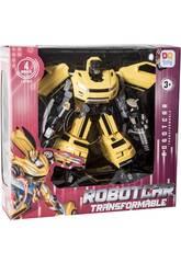 Robot Transformable Auto Warrior Jaune