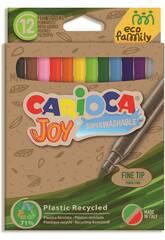 Pack Marqueur Eco Joy 12 Couleurs Carioca 43100
