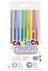 Marcador Pastel 8 Cores Carioca 43032