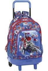 Zaino con Ruote Compact Estraibile Spiderman Safta 612043918
