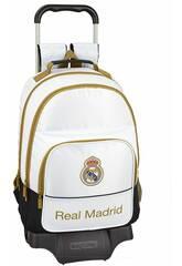 Mochila con Carro Real Madrid 1ª Equipación 19/20 Safta 611954863