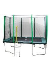Trampoline Premium 305x215 cm. avec Filet de Sécurité et Échelle Masgames MA302242