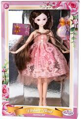 Muñeca Estilo Japón 29 cm. Vestido Rosa Perlas