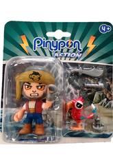 Pinypon Action Figura Pirata Con Mascota Loro Famosa 700015801