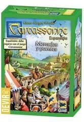 Carcassonne Expansão Mercados e Pontes Devir BGCARME