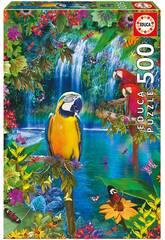 Puzzle 500 Paradis Tropical Educa 15512
