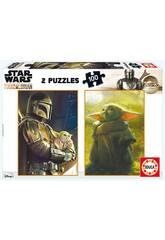 Puzzle 2X100 Baby Yoda The Mandalorian de Educa 18872