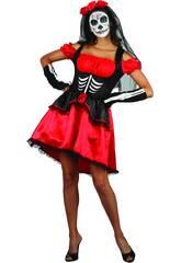 Disfraz Día de Los Muertos Mujer Talla M