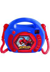 Spiderman Lector CD Portatil con 2 Microfonos Lexibook RCDK100SP