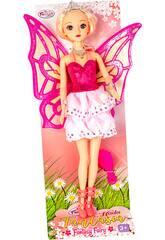 Muñeca Hada 30 cm. Vestido Rosa con Tirantes
