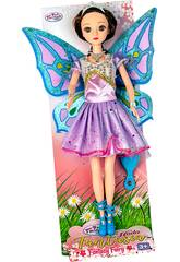 Muñeca Hada 30 cm. Vestido Violeta con Tul